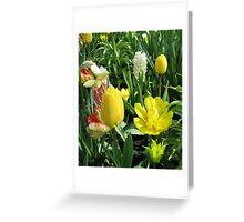 Sunlit Yellow Tulips - Keukenhof Gardens Greeting Card