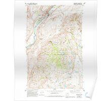 USGS Topo Map Washington State WA Okanogan 242920 1980 24000 Poster