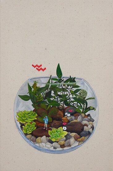 Terrarium with Danish Flora by chelsgus