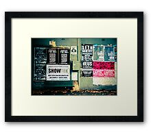 Whats on Framed Print