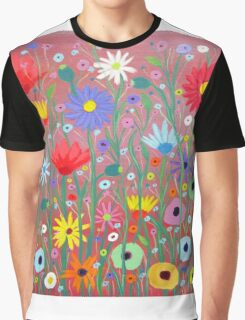 Flowers-abstract Graphic T-Shirt