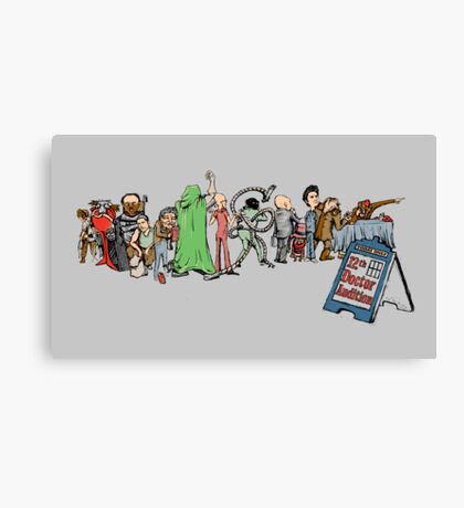 12th Doctor Audition Canvas Print