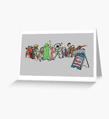 12th Doctor Audition Greeting Card