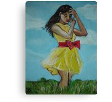 the spring bow Canvas Print