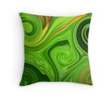 Swirls of Green Throw Pillow