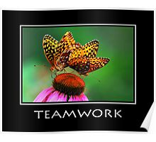 Teamwork Inspirational Art Poster
