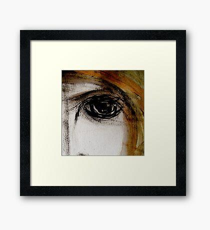 eye... empty look Framed Print