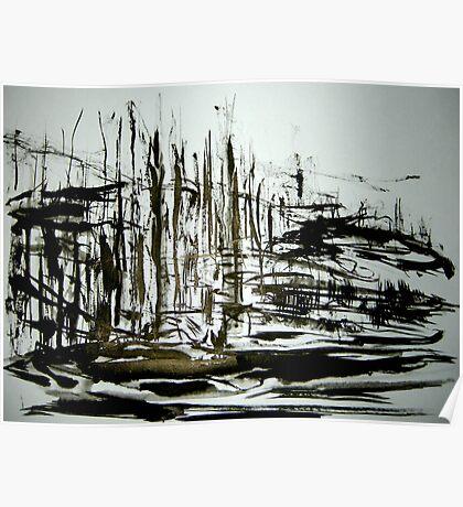 sketch... black forest Poster