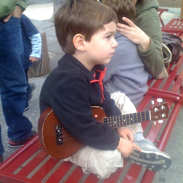 boy with guitar by andytechie