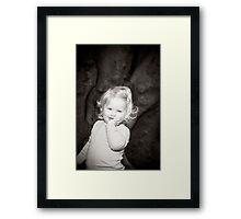Abbie 2012 (black and white) Framed Print