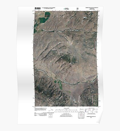 USGS Topo Map Washington State WA Barker Mountain 20110509 TM Poster