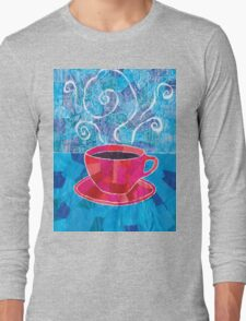 Cut and Paste and Run and Jump Coffee or Tea Long Sleeve T-Shirt