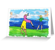 Sydney Opera House Dancers Greeting Card