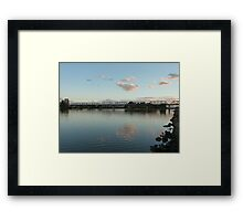 Manning River at dusk, Taree, NSW Framed Print