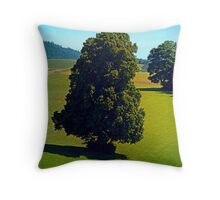 Another boring old tree Throw Pillow