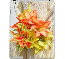 The bride had a lily bouquet iPad Case/Skin