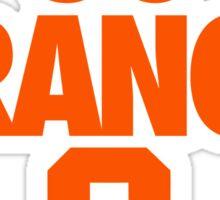 GO ORANGE. S Sticker