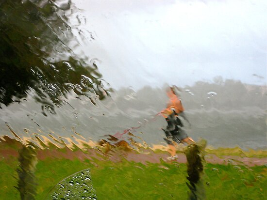 7/5 walking in the rain by Evelyn Bach