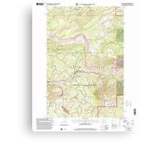 USGS Topo Map Washington State WA Tieton Basin 244283 2000 24000 Canvas Print