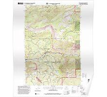 USGS Topo Map Washington State WA Tieton Basin 244283 2000 24000 Poster