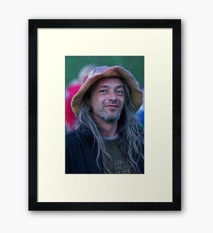 ❤‿❤  . Joyful and playful man. Framed Print