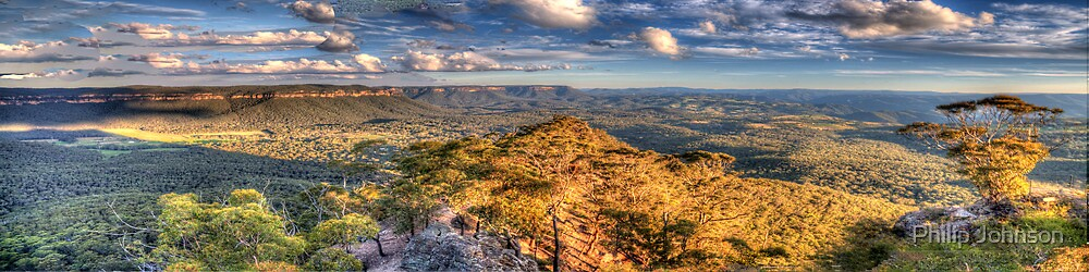 Far Horizons - Hargreaves Lookout - Blue Mountains World Heritage Area - The HDR Experience by Philip Johnson