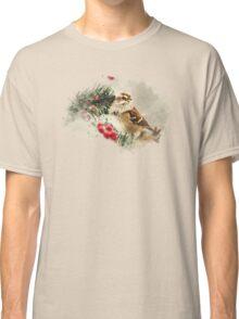 American Tree Sparrow Watercolor Art Classic T-Shirt