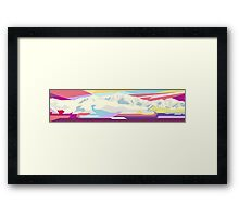 Mountains in Another World  Framed Print