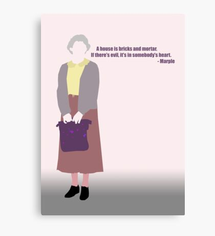 Miss Marple... Canvas Print