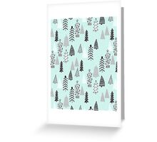 Christmas Forest - Light Blue b Andrea Lauren  Greeting Card