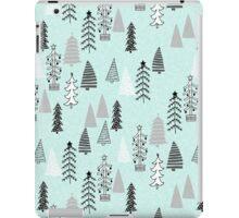 Christmas Forest - Light Blue b Andrea Lauren  iPad Case/Skin