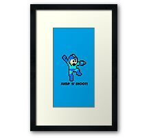 Megaman full cover Framed Print
