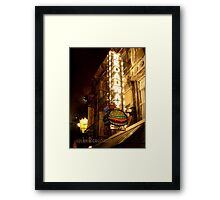 Broadway Burger Framed Print