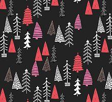 Christmas Forest - Dark by Andrea Lauren  by Andrea Lauren