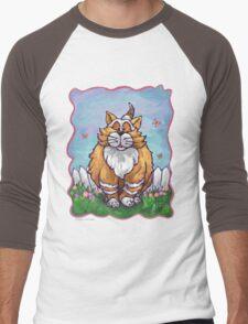 Animal Parade Ginger Cat Men's Baseball ¾ T-Shirt