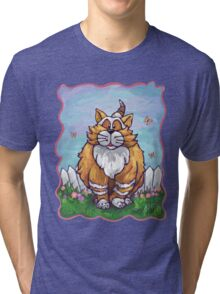 Animal Parade Ginger Cat Tri-blend T-Shirt