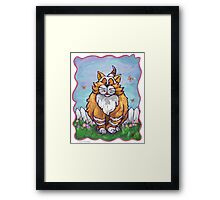 Animal Parade Ginger Cat Framed Print
