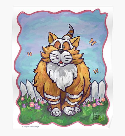Animal Parade Ginger Cat Poster