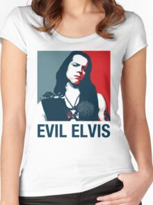 Evil Elvis 2 Women's Fitted Scoop T-Shirt