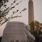 Dr. Martin Luther King, Jr. & Washington Monument by Pschtyckque
