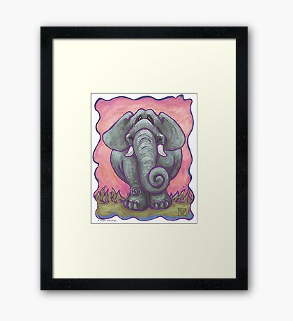 Animal Parade Elephant Framed Print