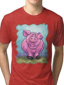 Animal Parade Pig Tri-blend T-Shirt