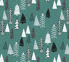 Christmas Forest - Evergreen by Andrea Lauren  by Andrea Lauren