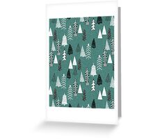 Christmas Forest - Evergreen by Andrea Lauren  Greeting Card