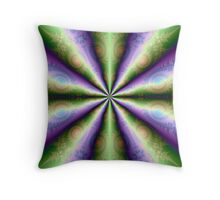 10 Cones in Green and Purple Throw Pillow