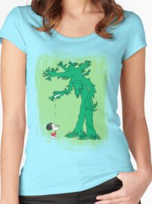 The Giving Treebeard on Lime Women's Fitted Scoop T-Shirt