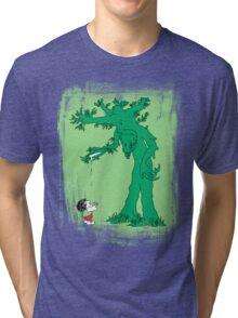 The Giving Treebeard on Lime Tri-blend T-Shirt