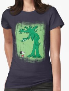 The Giving Treebeard on Lime Womens Fitted T-Shirt
