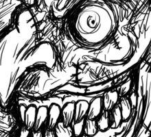Evil Zombies Sticker