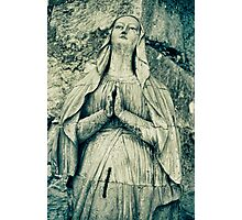 Praying Nun Statue Photographic Print